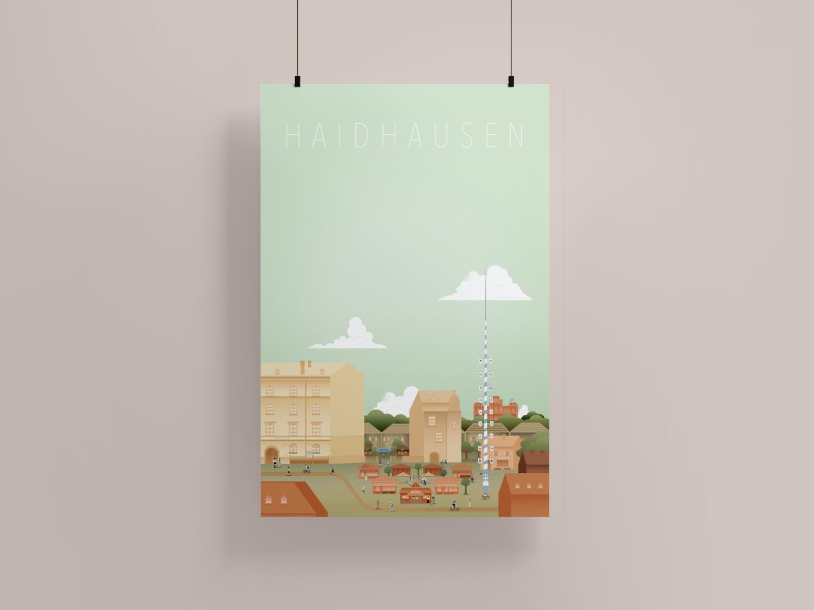 Haidhausen Poster mockup 50x75 – ©wunderland media GmbH