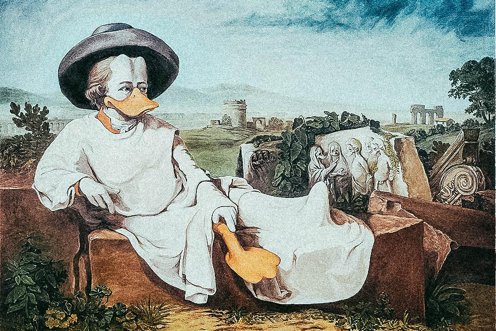 Goethe In Der Campagna – ©interDuck
